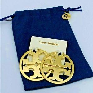 Authentic Tory Burch Miller Hoops earrings